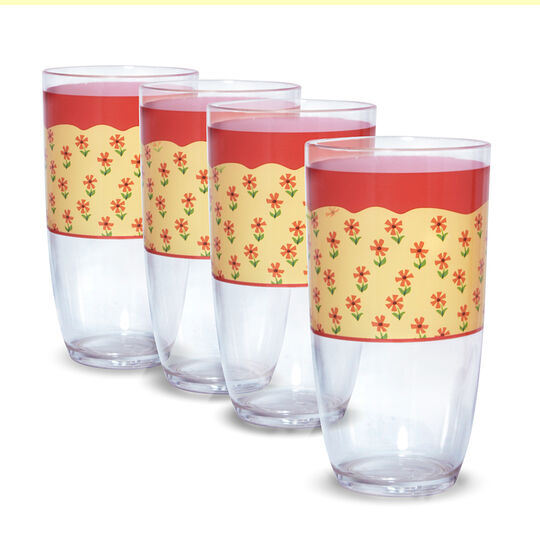 Set of 4 Acrylic Tumblers