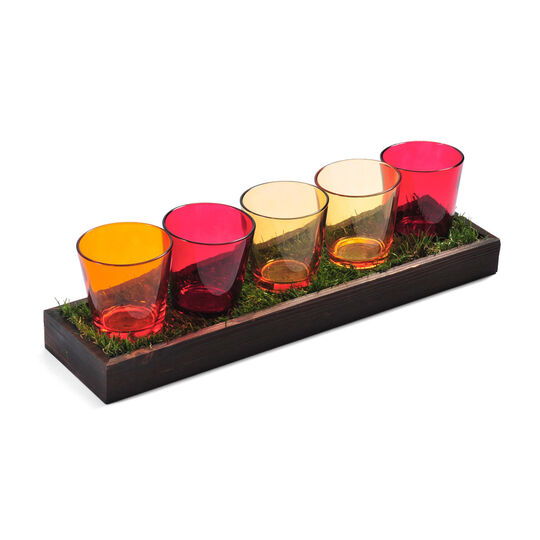 5 Light Warm Tone Tealight Garden