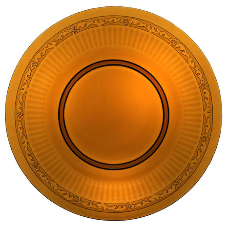 Amber Glass Charger Platter