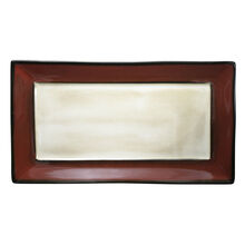 Red Rectangular Platter
