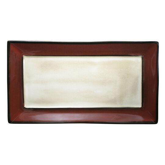 Red Rectangular Platter