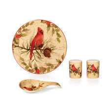 Cardinal Wreath 4 Piece Kitchen Set