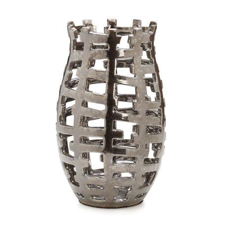 Agate Lustre Basket Pillar Vase