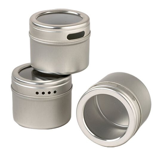 Set of 3 Magnetic Storage Tins