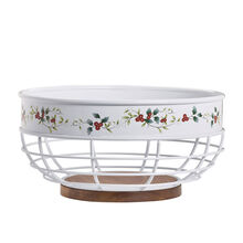 Bread Basket with Wooden Bottom
