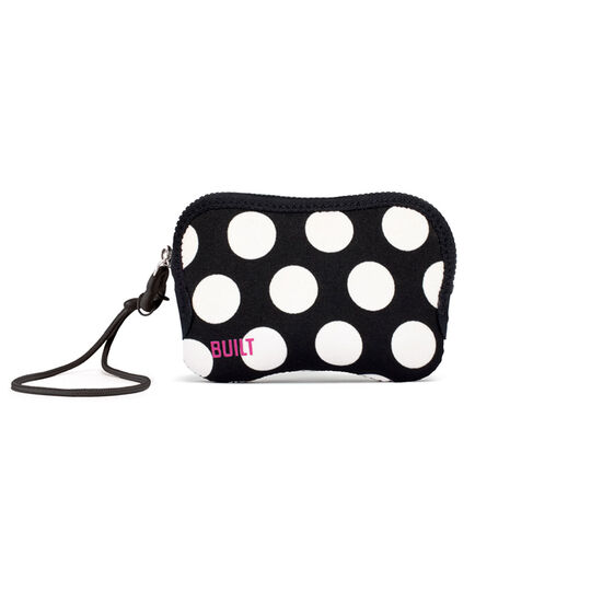 Big Dot Black and White Compact Zip Camera Case
