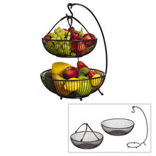 Spindle 2 Tier Basket With Banana Hook