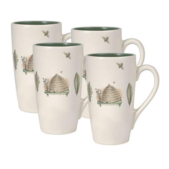Set of 4 Latte Mugs