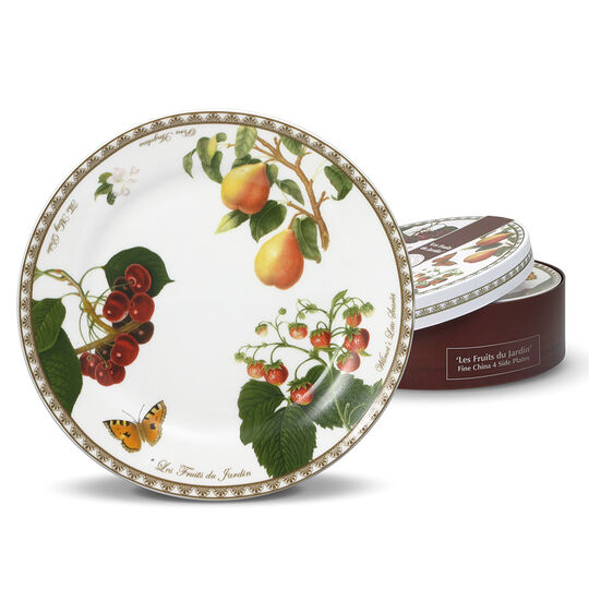 Les Fruits du Jardin Set of 4 Salad Plates