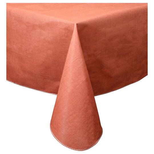 52 x 70 Burnt Orange Vinyl Tablecloth