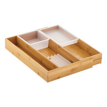Bamboo Expandable Gadget Drawer Organizer Set