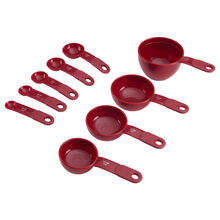 Red Measuring Cups and Spoons Set