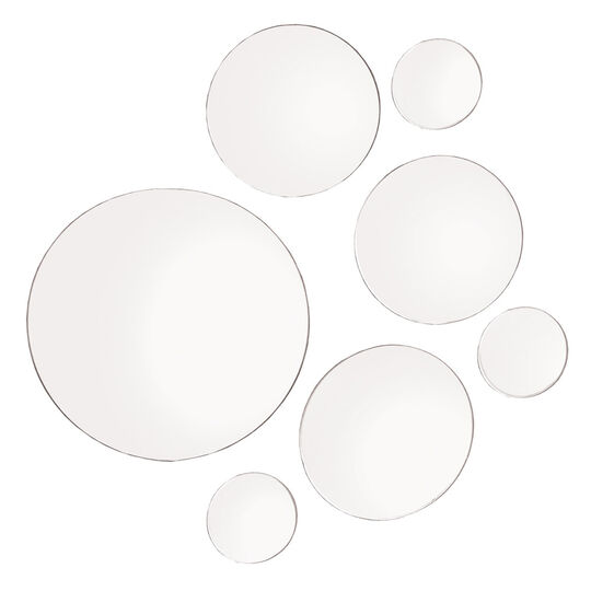 Set of 7 Round Glass Mirrors