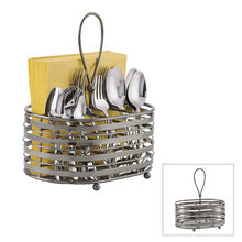 Stripe Napkin and Flatware Caddy