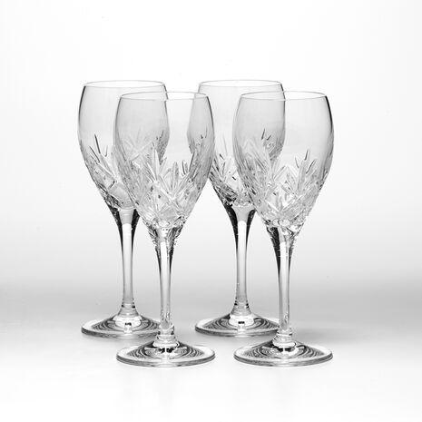 Set of 4 Crystal Wine Glasses