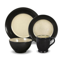 Black 16 Piece Dinnerware Set