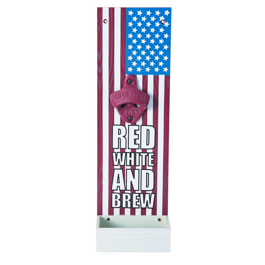 Red White And Brew Wall Bottle Opener