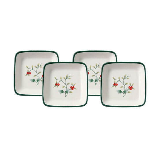Set of 4 Square Appetizer Plates