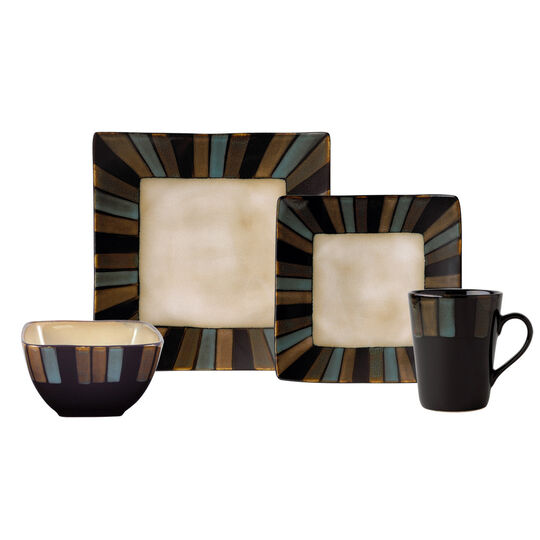 16 Piece Square Dinnerware Set
