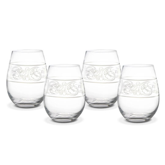 Set of 4 All Purpose Stemless Wine Glasses