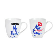 Set of 2 Mr And Mrs Right Mugs