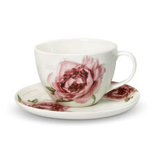 Peony Tea Cup And Saucer Set