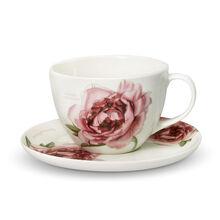 Peony Tea Cup And Saucer Set