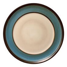 Blue Round Dinner Plate