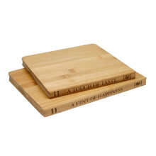 2 Pack Library Bamboo Cutting Boards