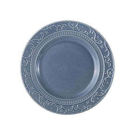 Scroll Blue Salad Plate
