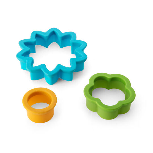 Set of 3 Flora Plastic Nesting Cookie Cutters
