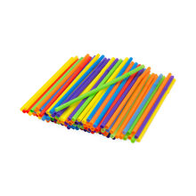 Assorted Jumbo Flex Straws, 125 Count