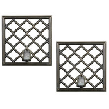 Set of 2 Lattice Sconces