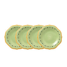 Set of 4 Salad Plates with Yellow Band