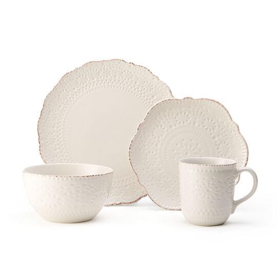 Cream 16 Piece Dinnerware Set