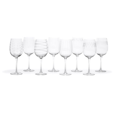 Set of 8 White Wine Glasses