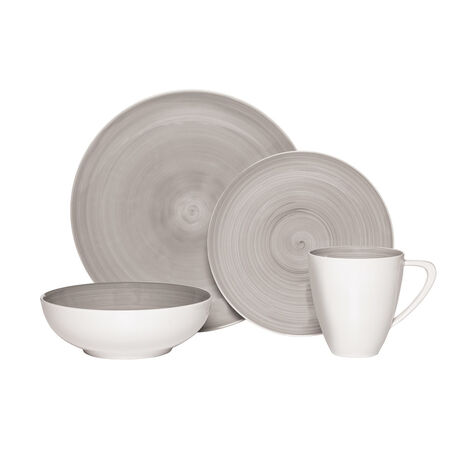 Grey 4 Piece Place Setting