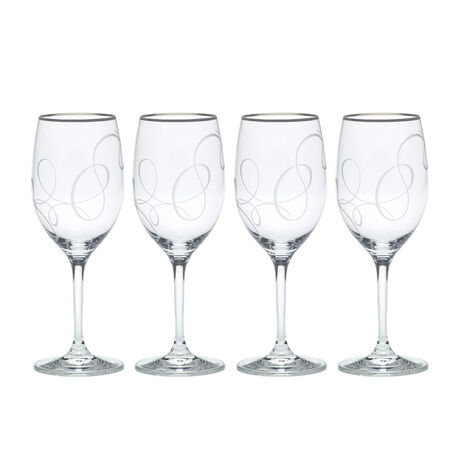 Platinum Wine Glasses, Set of 4