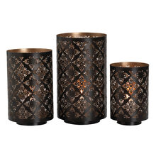 Set of 3 Metal Luminaries