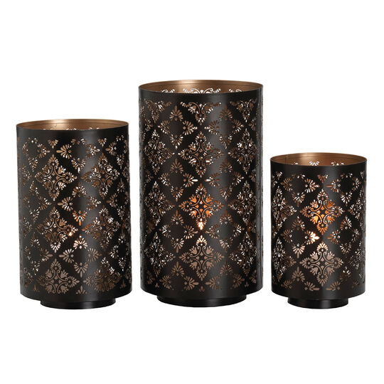 Set of 3 Metal Luminaries
