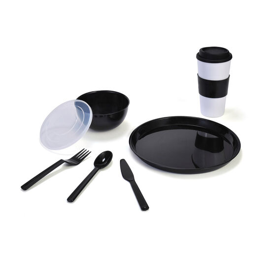Black Travel 8 Piece Set