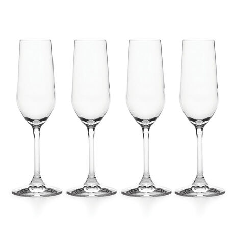 Set of 4 Flute Glasses