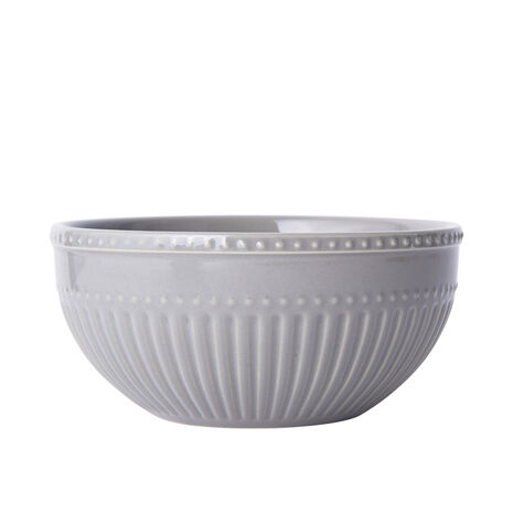 Fluted Grey Cereal Bowl