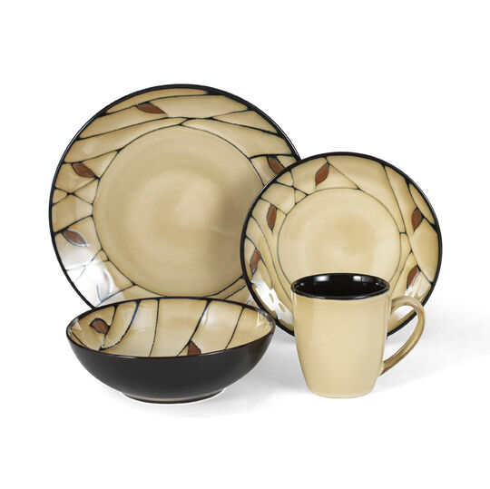 Dinnerware Set, 64 Piece, Service for 16