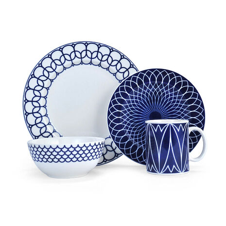 White 16 Piece Dinnerware Set