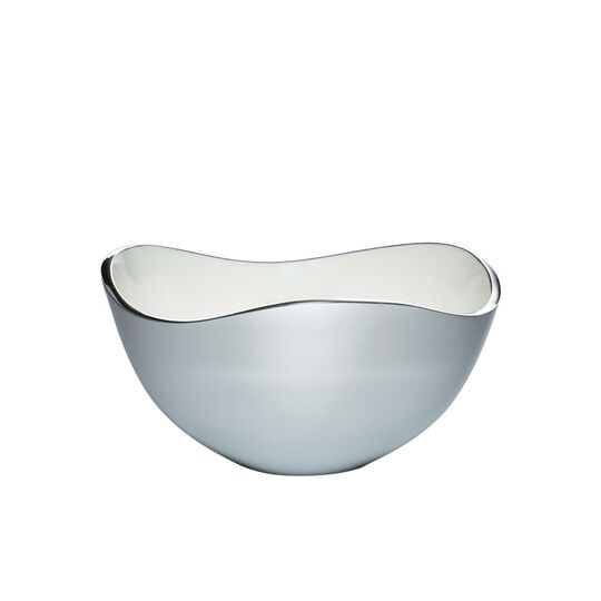 Alloy 7 Inch Bowl with White Enamel Accent