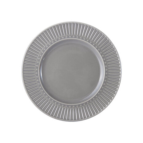 Fluted Grey Salad Plate