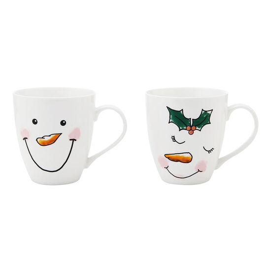 Set of 2 Snowmen Mugs