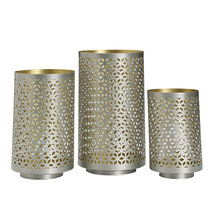 Set of 3 Metal Lace Luminaries