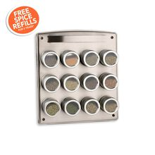 12 Canister Magnetic Spice Rack